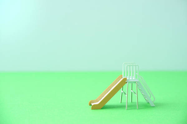 Slide Photograph - The Model Of The Slide Made Of The Paper by Yagi Studio