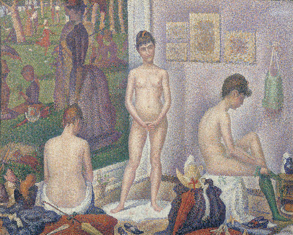 Neo-impressionism Wall Art - Painting - The Models by Georges Pierre Seurat