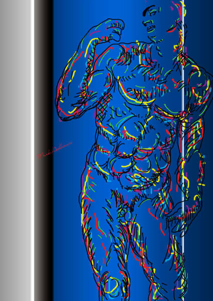 Male Nude Digital Art - The Modern Man  by Mark Ashkenazi