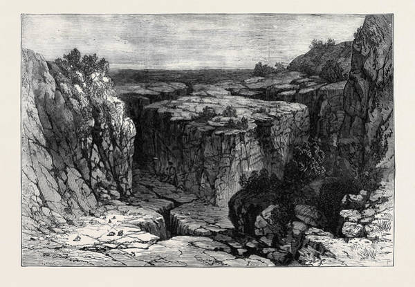 Lava Drawing - The Modoc Indian War The Lava Beds Oregon 1873 by American School