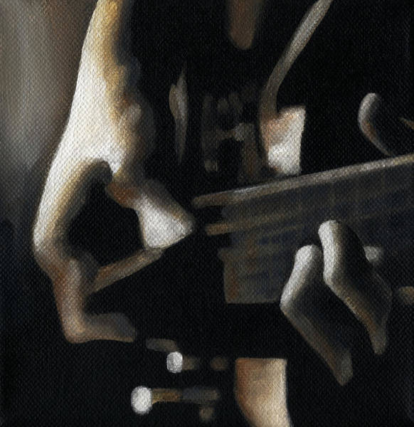 Bass Guitar Painting - The Moment by Natasha Denger