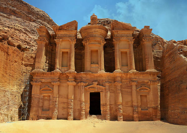 Wall Art - Photograph - The Monastery At Petra by Stephen Stookey