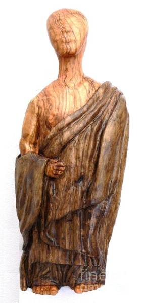 Sculpture - The Monk Peace And Wisdom by Eric Kempson