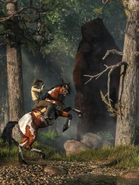 Digital Art - The Monster Bear by Daniel Eskridge