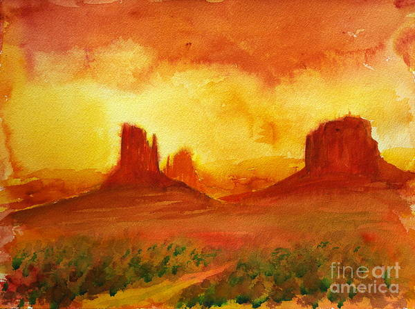 Painting - The Monuments by Walt Brodis