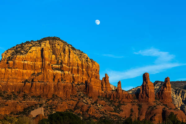 Photograph - The Moon Over Chicken Point by Ed Gleichman