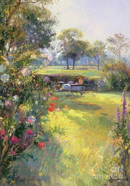 Shade Garden Wall Art - Painting - The Morning Letter by Timothy  Easton
