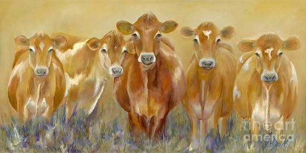 Cows Painting - The Morning Moo by Catherine Davis