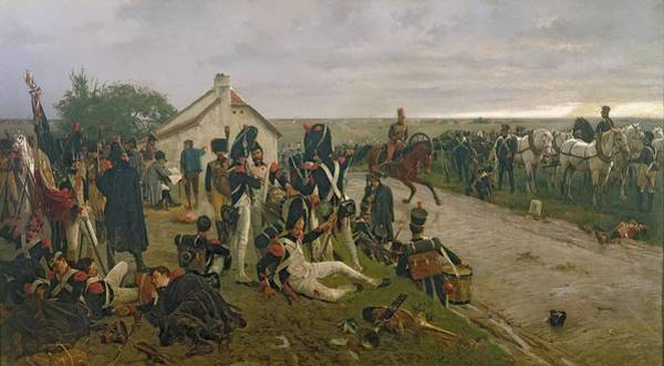 Wounded Soldier Painting - The Morning Of The Battle Of Waterloo by Ernest Crofts