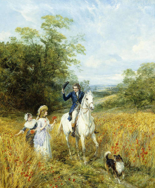 The Blue Rider Wall Art - Painting - The Morning Ride by Heywood Hardy