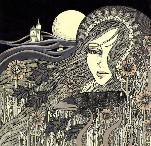 The Morrigan Art Print by Anita Inverarity
