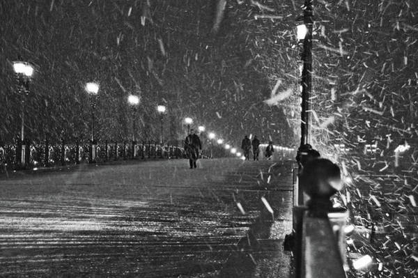 Cold Weather Wall Art - Photograph - The Moscow Blizzard by Lyubov Furs