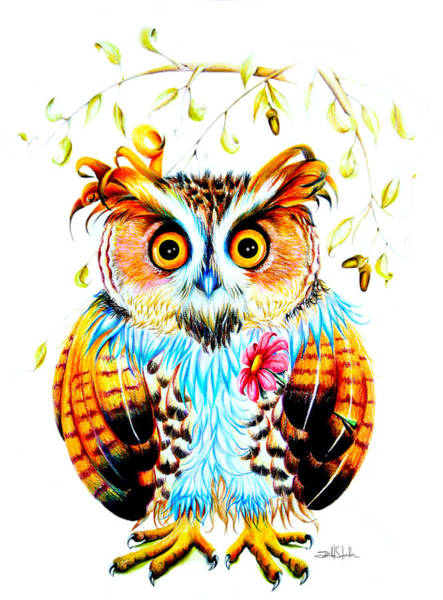 Surrealistic Painting - The Most Beautiful Owl by Isabel Salvador