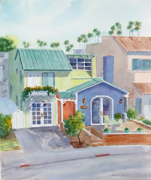 Painting - The Most Colorful Home In Belmont Shore by Debbie Lewis