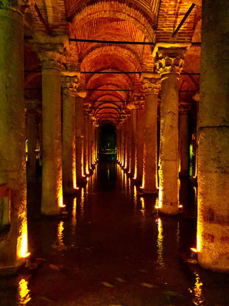 Basilica Cistern Photograph - The Most Romantic Place Of Istanbul by Zafer Gurel