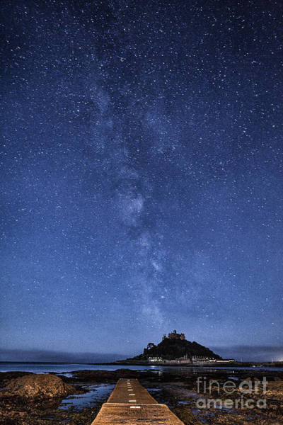 Cornwall Photograph - The Mount And The Milkyway by John Farnan