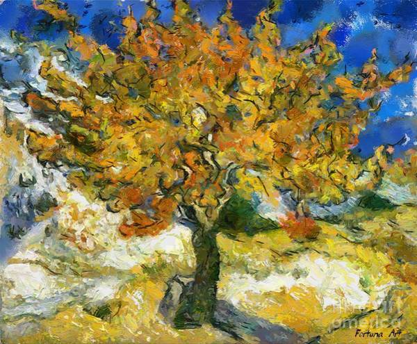 Wall Art - Painting - The Mulberry Tree After Van Gogh by Dragica  Micki Fortuna