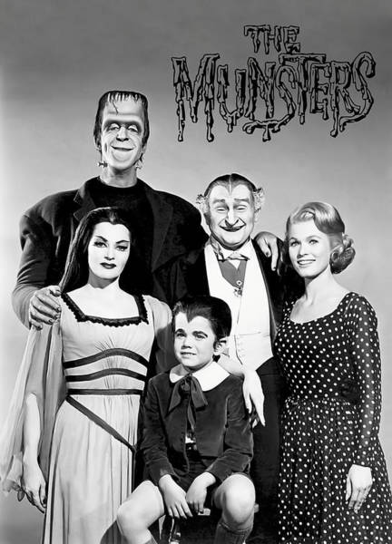 Frankenstein Monster Photograph - The Munsters Family by Daniel Hagerman