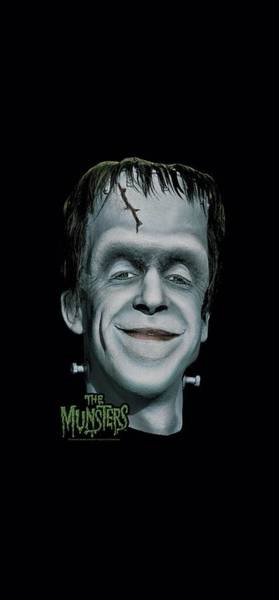 Horror Movie Digital Art - The Munsters - Herman's Head by Brand A
