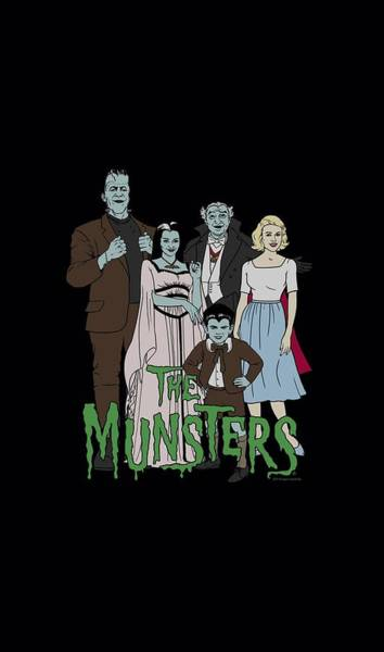 Tv Wall Art - Digital Art - The Munsters - The Family by Brand A