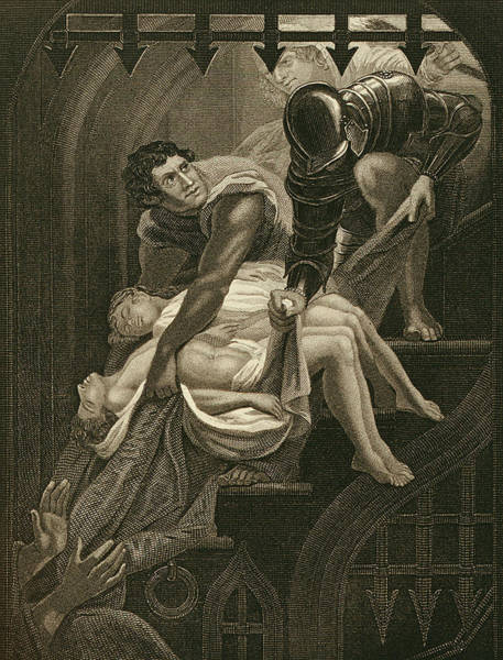 Wall Art - Drawing - The Murder Of The Two Princes by James Northcote