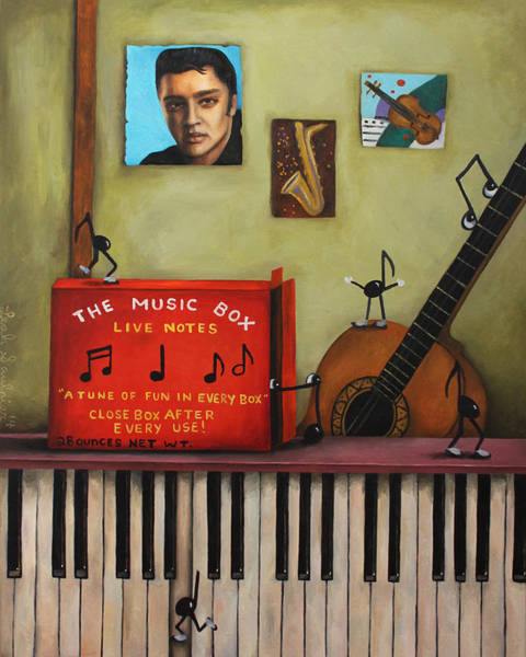 Sax Painting - The Music Box by Leah Saulnier The Painting Maniac