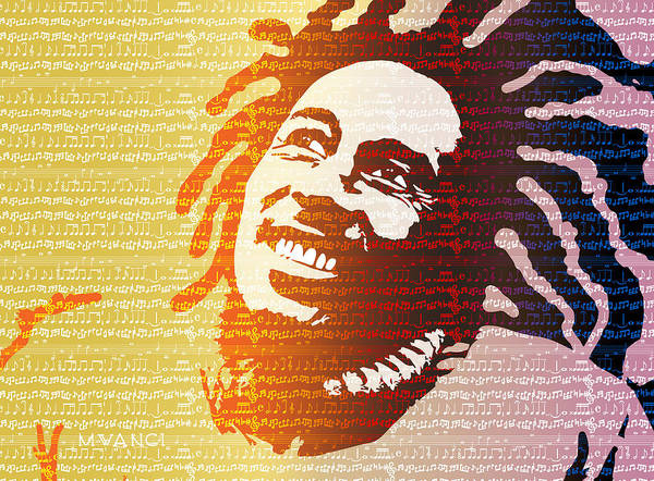 Jamaica Digital Art - The Music Lives On by Anthony Mwangi