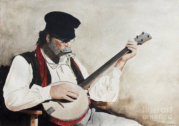 Painting - The Music Man by Monte Toon