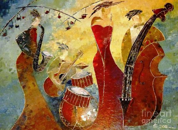 Wall Art - Painting - The Music Never Stopped by Amalia Suruceanu