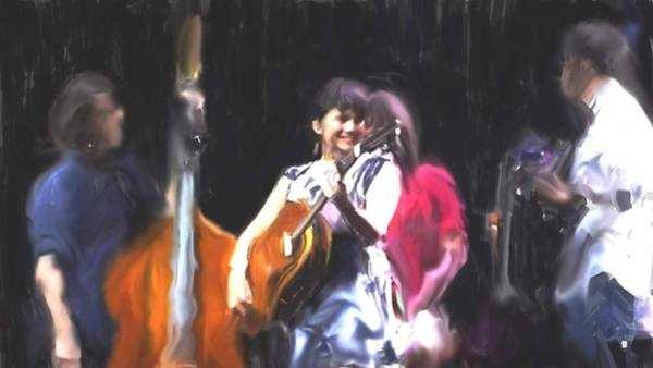 Usha Painting - The Music Of Norah Jones by Usha Shantharam