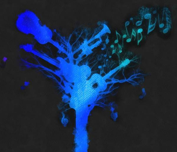 Funk Mixed Media - The Music Tree by Dan Sproul