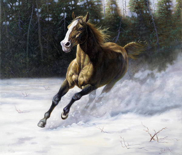 North Dakota Painting - The Mustang by Gregory Perillo