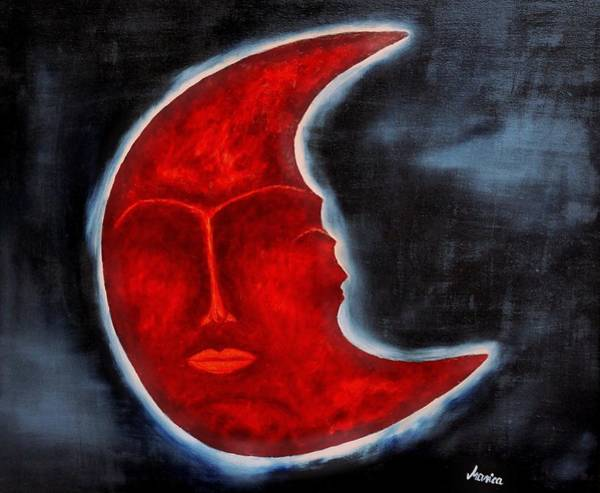 Painting - The Mysterious Moon - Original Oil Painting by Marianna Mills