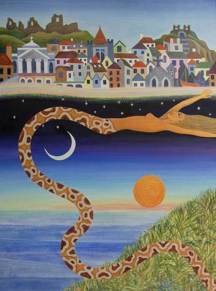 Wall Art - Painting - The Mysterious Process Of Coming To Town by Jennifer Baird