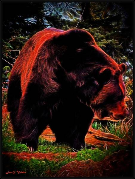 Painting - The Mystic Grizzly Bear by Jon Volden