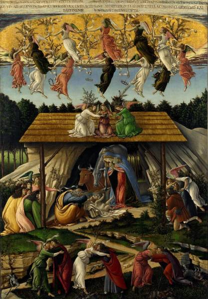 Sandro Botticelli Painting - The Mystical Nativity by Sandro Botticelli
