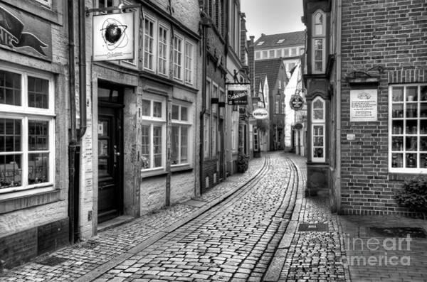 Photograph - The Narrow Cobblestone Street by Ari Salmela