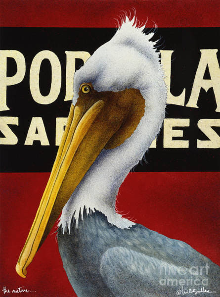 Pelican Painting - The Native... by Will Bullas