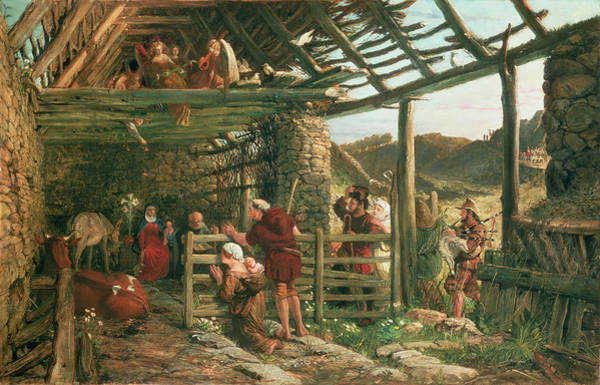 Wall Art - Painting - The Nativity, 1872 by William Bell Scott