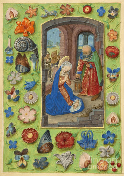 Photograph - The Nativity Ca1480 by Getty Research Institute