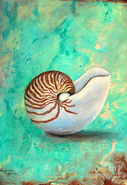 Wall Art - Painting - The Nautilus by Gabriela Valencia