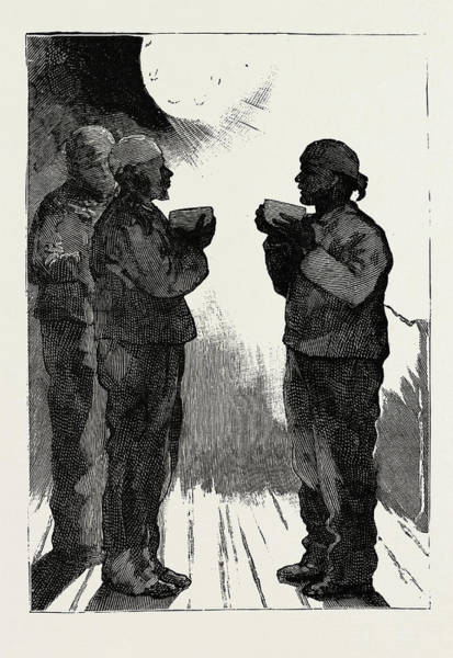 Wall Art - Drawing - The Naval Manoeuvres, 1889 An Early Cup Of Cocoa by Litz Collection