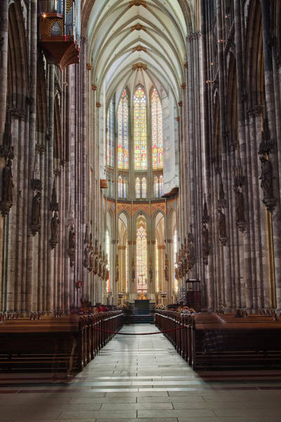 Spirituality Photograph - The Nave Of Cologne Cathedral by Julian Elliott Photography