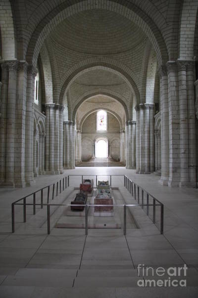 Fontevraud Photograph - The Nave With Tombs Fontevraud Abbey by Christiane Schulze Art And Photography