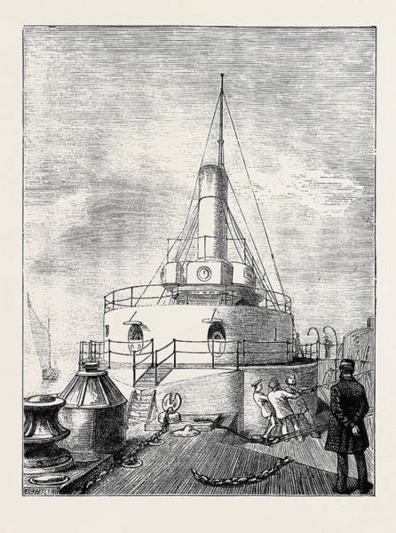 Wall Art - Drawing - The Navy, H.m.s. Glatton The Turret by English School