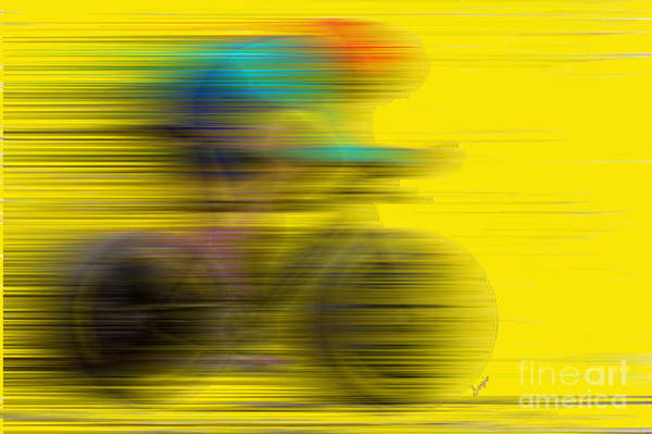 Bike Racing Painting - The Need For Speed by Sergio B