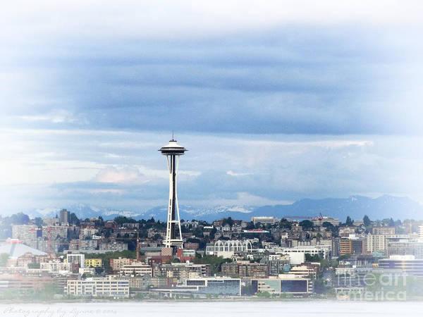 The Needle In Seattle Wa Art Print