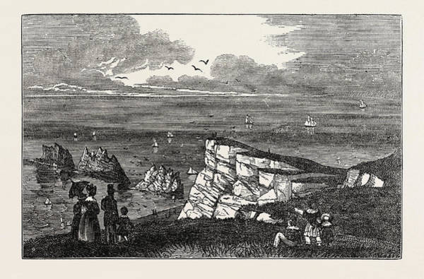 Sea Stacks Drawing - The Needles, As Seen From The Cliffs, A Row Of Three by Litz Collection