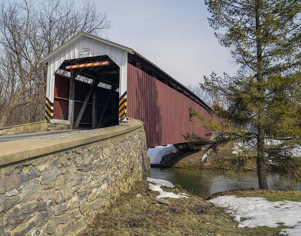 Wall Art - Photograph - The Neff's Mill Covered Bridge by Dave Sandt