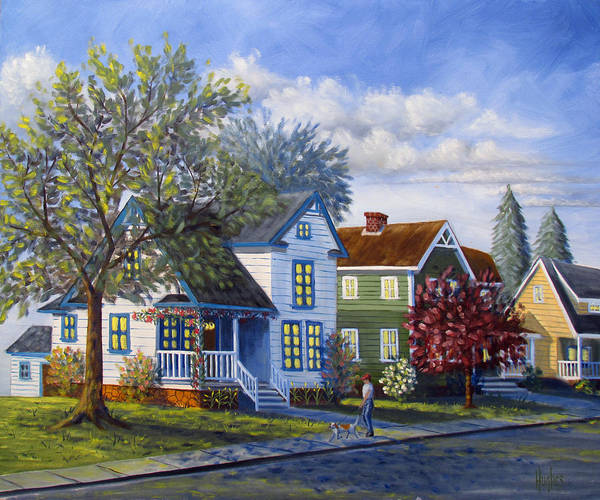 Painting - The Neighborhood by Kevin Hughes